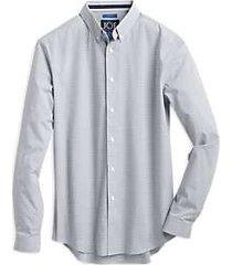 joe joseph abboud repreve® white dobby grid slim fit sport shirt
