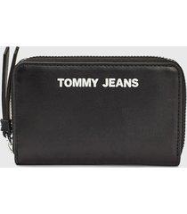 billetera negro tommy jeans
