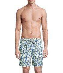 tom & teddy men's shell swim trunks - yellow - size xxl
