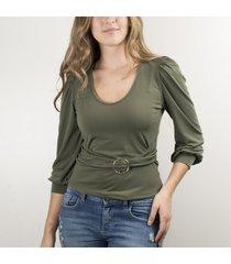 blusa de mujer verde cosmos