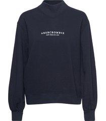 anf womens sweatshirts sweat-shirt tröja blå abercrombie & fitch