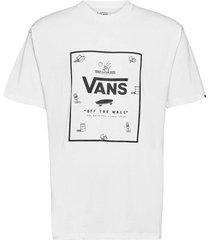 classic print box t-shirts short-sleeved vit vans