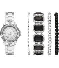folio women's stainless steel bracelet watch 32mm gift set
