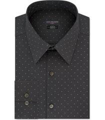 van heusen men's slim-fit dot-print dress shirt