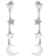 orecchini pendenti silver collection argento luna e stelle per donna