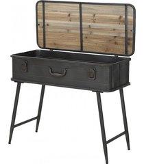 konsola metalowa stolik walizka warehouse