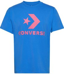 converse star chevron tee t-shirts short-sleeved blå converse