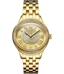 jbw women's plaza oval diamond 18k gold plated watch