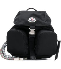 moncler one-shoulder multi-pocket backpack - black