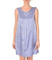korte jurk vero moda robe pepper 10049488 bleu