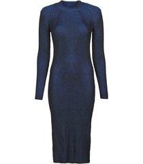 korte jurk g-star raw plated lynn dress mock slim knit wmn ls