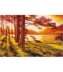 "david lloyd glover lake of gold canvas art - 37"" x 49"""