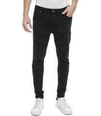jeans brave soul negro - calce ajustado