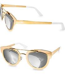 49mm jolene round metallic sunglasses