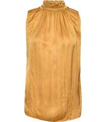 bitte blouse mouwloos geel rabens sal r