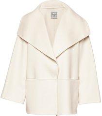 annecy jacket wollen jas lange jas crème totême