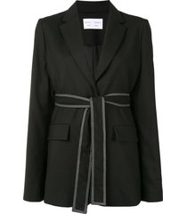 proenza schouler white label tied-waist single-breasted blazer - black