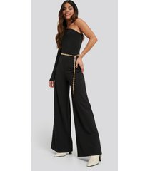 na-kd party asymmetric jersey jumpsuit - black