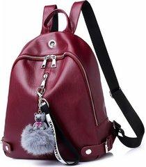 mochila casual mujeres- mochila para mujeres-rojo