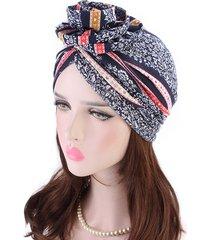 cappello da donna in cotone con fiori e berretto con cappuccio