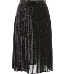 marco de vincenzo midi sequins skirt