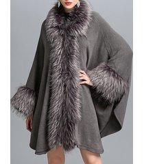 cappotti di mantello delle donne irregolari a maglia con patchwork