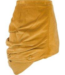 y/project corduroy asymmetric skirt - yellow