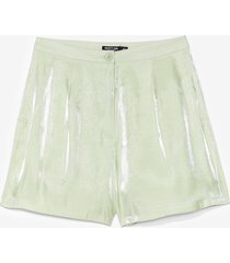 womens glass shorts co ord - mint