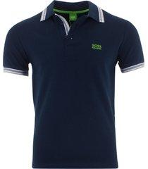 hugo boss men's short sleeve modern fit cotton polo shirt dark blue s m l xl xxl