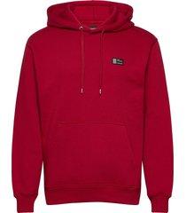 new standard hoodie badge hoodie trui rood mads nørgaard
