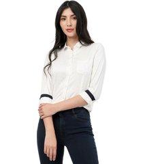 blusa blanca manga larga lec lee