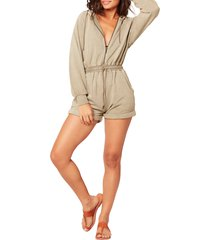 women's l space stay cool cover-up romper, size x-large - green