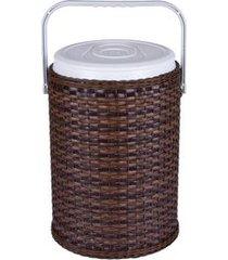 cooler fibra sintética natural rattan 42 latas anabell