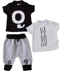 conjunto gris little foot