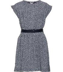 ditsy flower print dress s/s jurk blauw tommy hilfiger