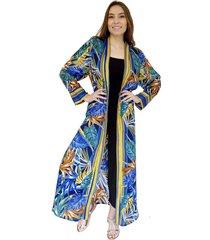 kimono largo tropical azulino natalia seguel