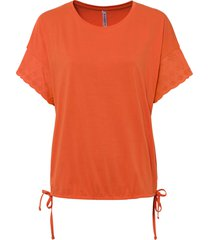 maglia con ricamo traforato (arancione) - rainbow