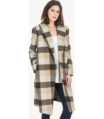 lilla p plaid outerwear shawl collar coat