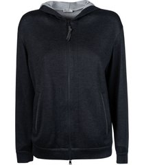 brunello cucinelli regular hooded jacket