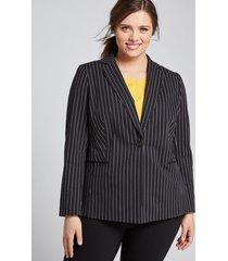 lane bryant women's bryant blazer - single button 20p black stripe