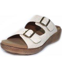 sandalia confort beige burana 965-027
