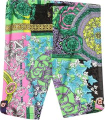 versace multicolor print leggings young