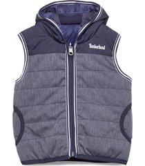 reversible puffer jacket gevoerd vest blauw timberland