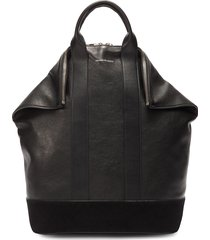 'de manta' suede panel leather backpack tote
