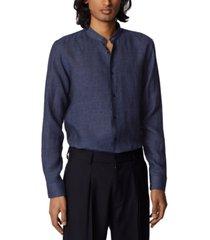 boss men's jordi navy shirt