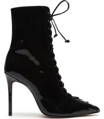 anaiya patent leather bootie - 6 black patent leather