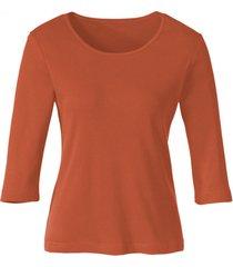 biokatoenen shirt met ronde hals, papaja 40