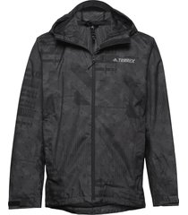 camo rain j outerwear sport jackets svart adidas performance