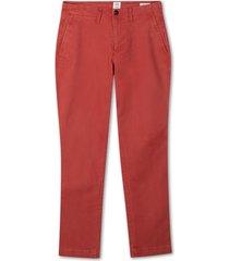 pantalon hombre slim stretch khaki rojo gap gap