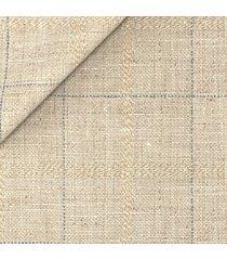 pantaloni da uomo su misura, bottoli, lana lino beige quadri, primavera estate | lanieri